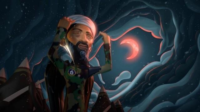 اسامة بن لادن في احدى لقطات الفيلم