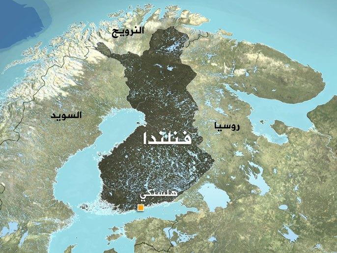 صورة لخريطة فنلندا