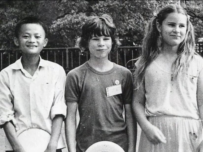 جاك ما في طفولته مع اصدقائه
