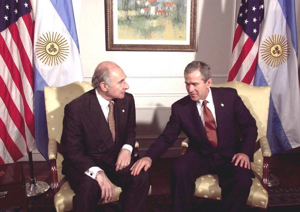 القاء جورش بوش مع الرئيس الارجنتيني