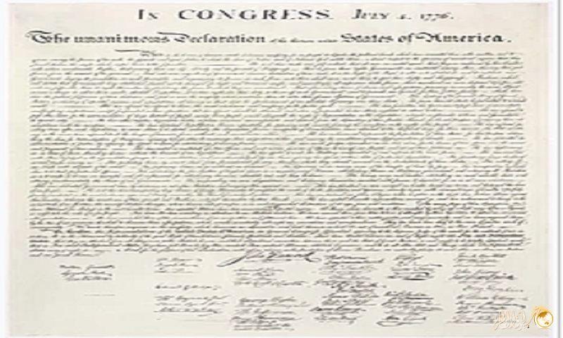 وثيقة استقلال امريكا