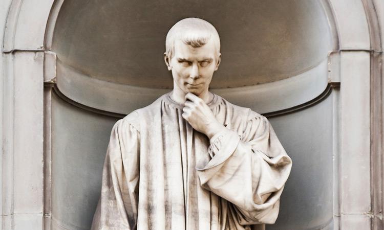 تمثال ل نيكولو ميكيافيلي