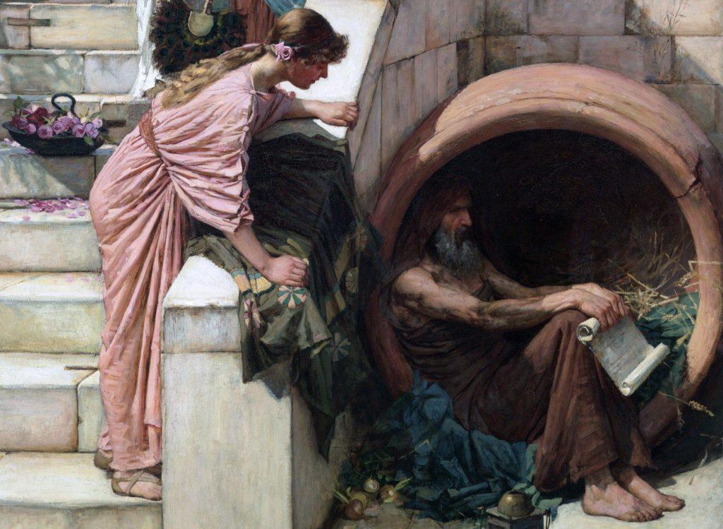 ديوجينس هو أشهر فيلسوف طبق الفلسفة الكلبية حرفيا
