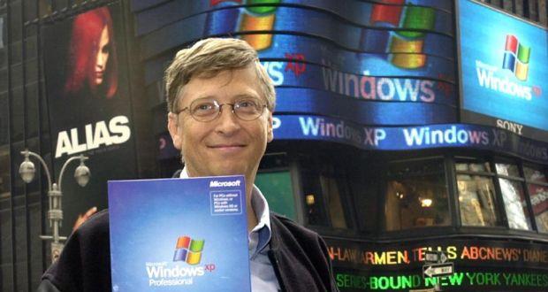 يل جيتس مؤسس ميكروسوفت التي اشترت حقوق الصورة