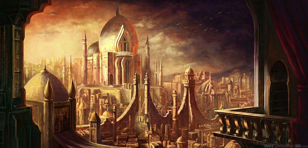 يقال أن مدينة النحاس الاسطورية مبنية بالكامل من النحاس بايادي الجن