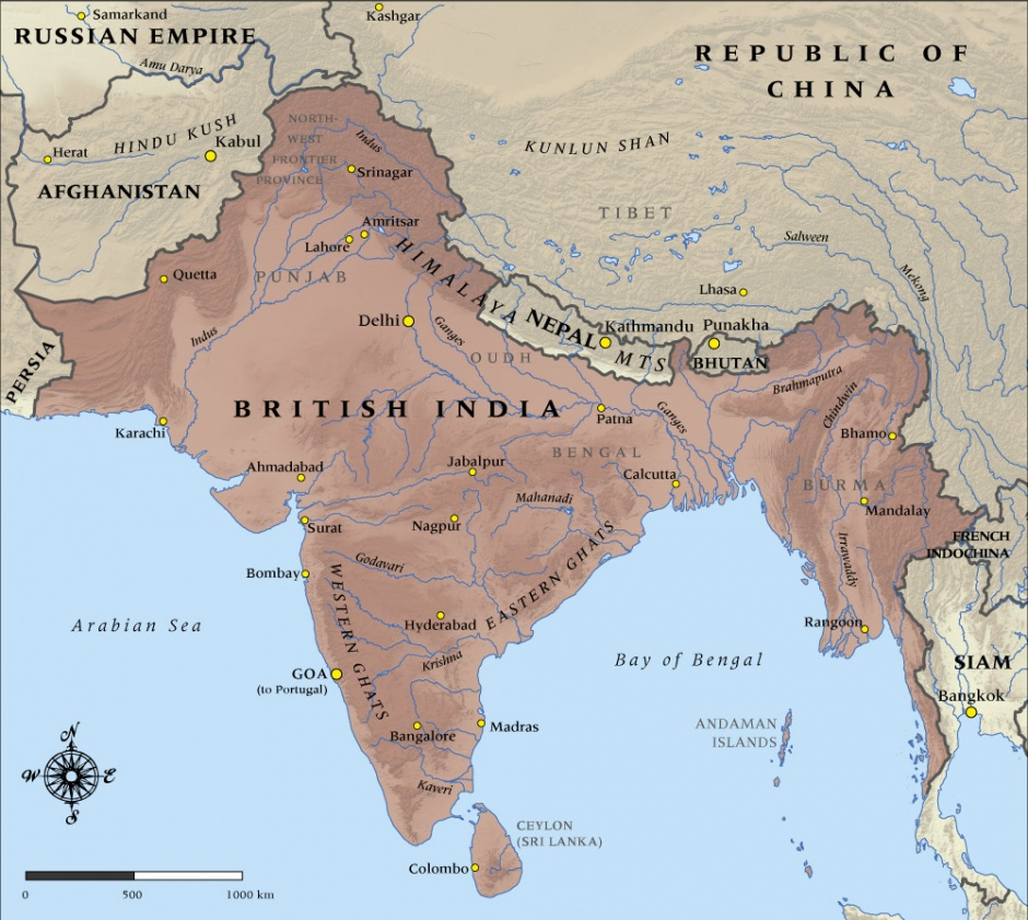 الهند البريطانية قبل تقسيمها للهند وباكستان
