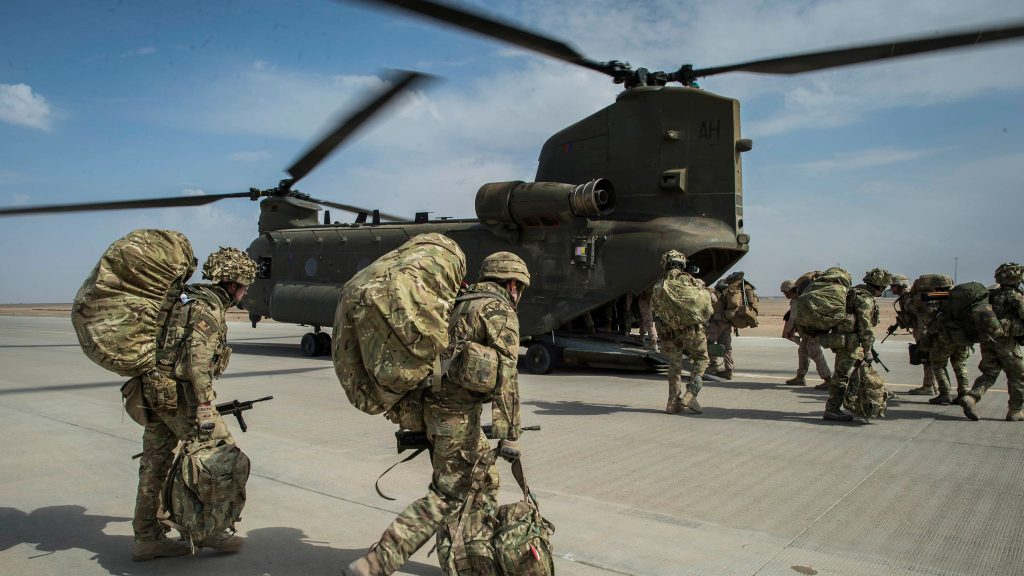 ساهم الجيش البريطاني في غزو العراق مع الولايات المتحدة لامريكية